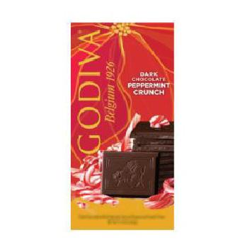 Godiva Chocolate Bars Dark Peppermint Crunch Tablet